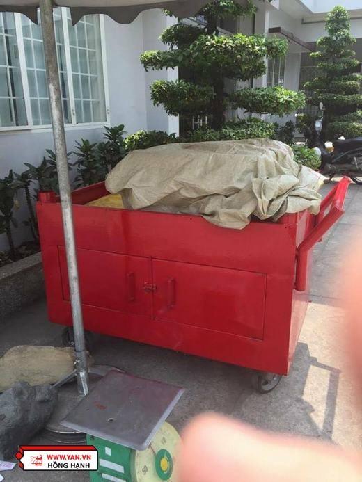 Đây là xe đựng xác của thú cưng thiêu không lấy cốt tại Bình Hưng Hòa