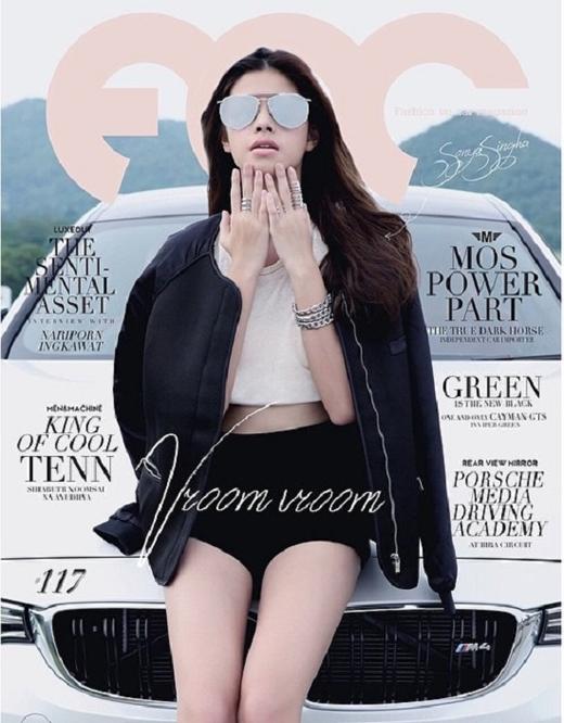 Cô gái trẻ là gương mặt sáng giá và thường xuyên xuất hiện trên bìa các tạp chí danh tiếng ở Thái Lan.(Ảnh: Internet)