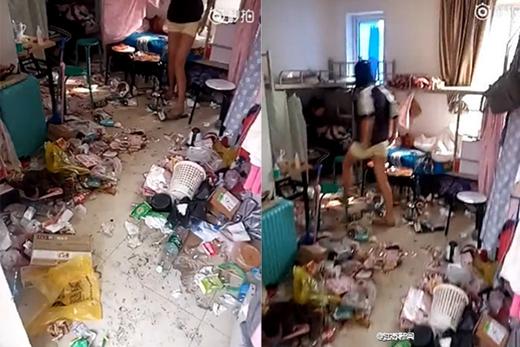 Không biết nên gọi là bãi rác hay là phòng ngủ nữa? (Ảnh: Internet)