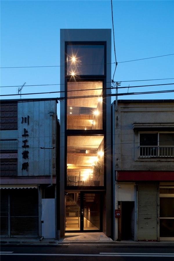 Ấn tượng với 4 ngôi nhà siêu mỏng nổi tiếng nhất tại Nhật Bản