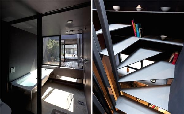 Với thiết kế giật cấp, các tầng có sự kết nối và liên kết chặt chẽ với nhau.