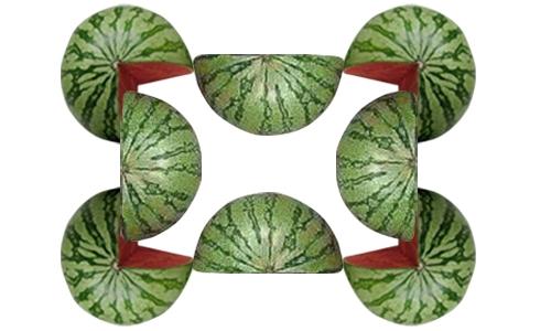 Câu 1:Theo bạn, có bao nhiêu quả dưa hấu trong bức ảnh này.(Ảnh: Intenet)