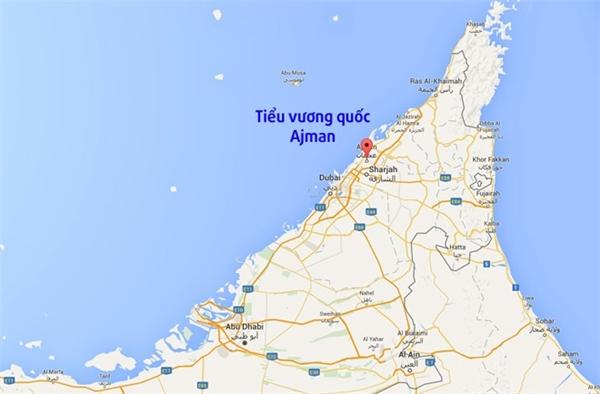 Tiểu vương quốc Ajman nằm cạnh tiểu vương quốc Dubai của Các tiểu vương quốc Arab Thống nhất.