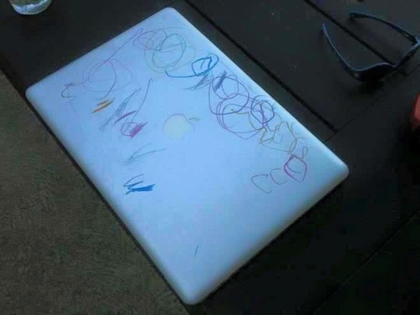 Nó rất giống cái bảng vẽ của convà thế là con vẽ vào thôi.