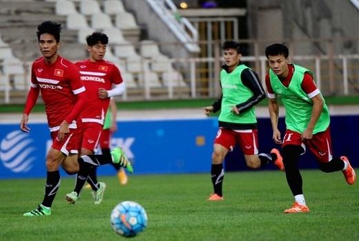 Tiền vệ cánh Thành Lương - cầu thủ đang có phong độ rất tốt sau khi bình phục chấn thương cũng chắc suất đá chính.