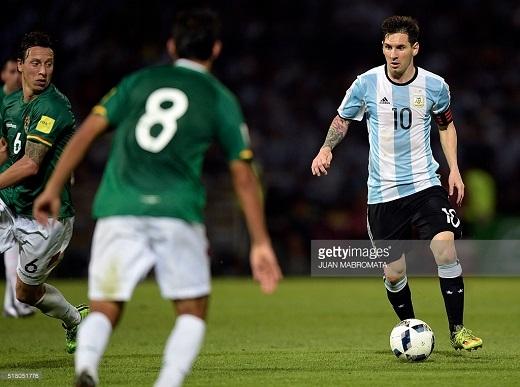 Đêm qua, Messi tiếp tục ghi bàn thắng cho ĐT Argentina. (Ảnh: Getty Images)