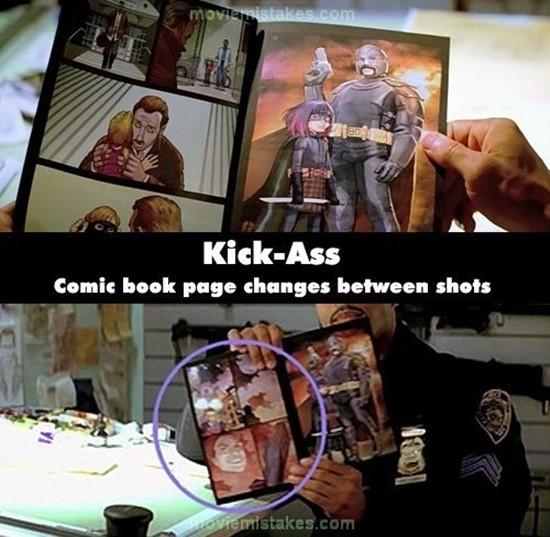 Kick-Ass: Sau khi viên cảnh sát lật tờ báo lại, một trang báo đã có sự thay đổi hình ảnh.(Ảnh: Internet)