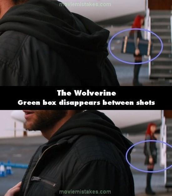 The Wolverine:Như có ma thuật, chiếc hộp xanh trên tay nhân vật nữ đã không cánh mà bay chỉ sau 1 giây.(Ảnh: Internet)