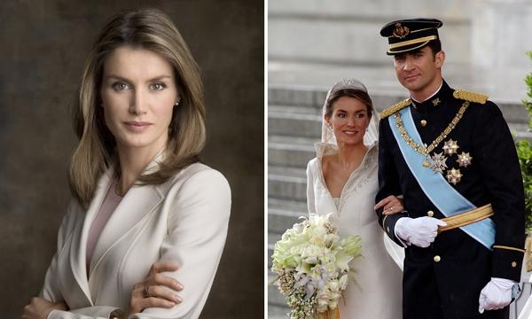 Letiziatừngtrải qua cuộc hôn nhân kéo dài chỉ vỏn vẹn một năm trước khi trở thànhHoàng hậu Tây Ban Nha.(Ảnh: Bright Side)