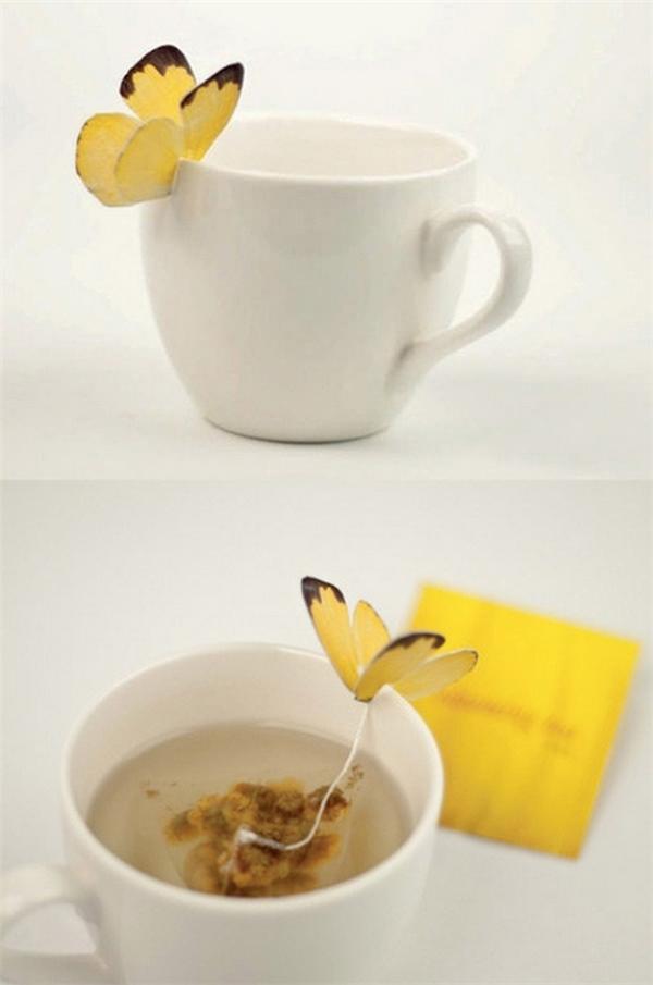 Trà túi lọc cho hương thơm nhẹ tênh như cánh bướm. (Ảnh: Bright Side)