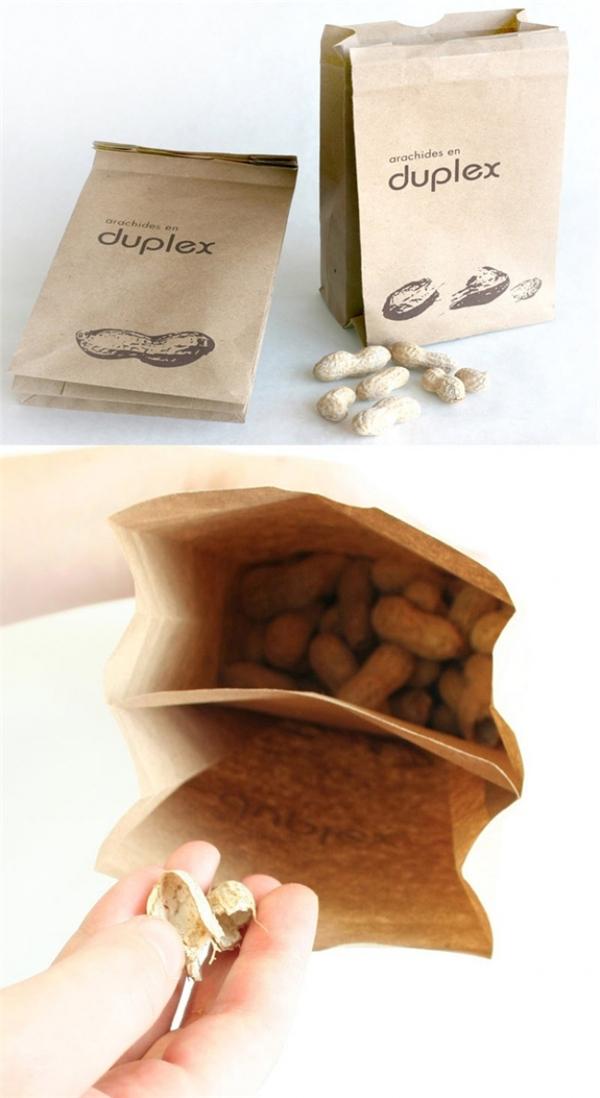 Chiếc túi giấy thông minh có ngăn đựng vỏ rác. (Ảnh: Bright Side)
