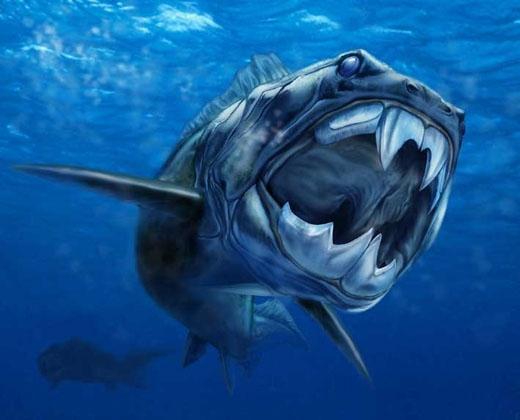 Những hóa thạch của loài cá này cho thấy chúng dài tối đa đến 10 mét và nặng khoảng 4 tấn.(Ảnh: Internet)