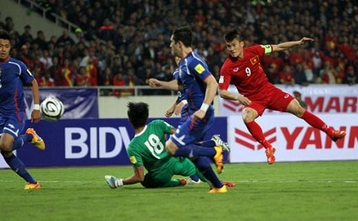 Mặc dù cố gắng song các cầu thủ không thể có được 1 điểm trước Iraq. (Ảnh: Internet)