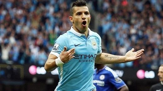 6. Sergio Aguero (Manchester City)– 230.000 bảng/tuần. (Ảnh: Internet)