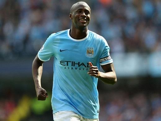 5. Yaya Toure (Manchester City)– 230.000 bảng/tuần. (Ảnh: Internet)