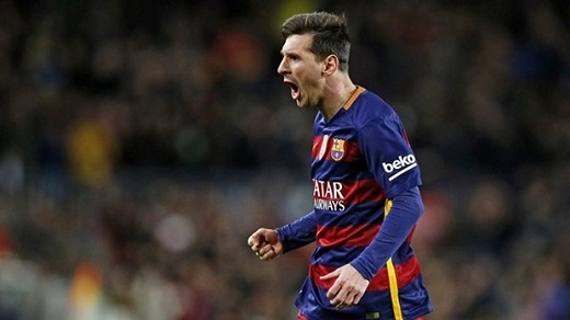 2. Lionel Messi (Barcelona)– 275.000 bảng/tuần sau thuế. (Ảnh: Internet)