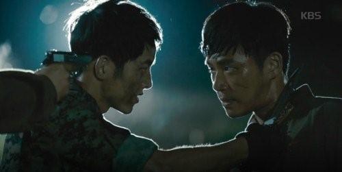 Cảnh phim bị cắt bỏ khi chiếu tại Trung Quốc. Ảnh: KBS.