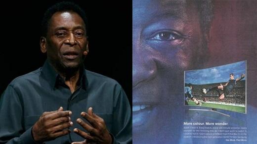 Có những điểm tương đồng giữa Pele và người xuất hiện trong bài quảng cáo của Samsung. (Ảnh: Android Authority)
