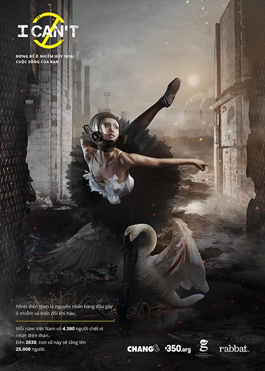 Diễn viên múa Đỗ Hải Anh - Quán quân So You Think You Can Dance 2015: Hình tượng một cô thiên nga gãy cánh bé nhỏ sụp đổ trước tình yêu nhảy múa đã chết chỉ bởi ô nhiễm và biến đổi khí hậu. - Tin sao Viet - Tin tuc sao Viet - Scandal sao Viet - Tin tuc cua Sao - Tin cua Sao
