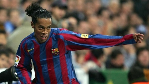 Ronaldinho | Barcelona| 3 bàn.(Ảnh: Internet)