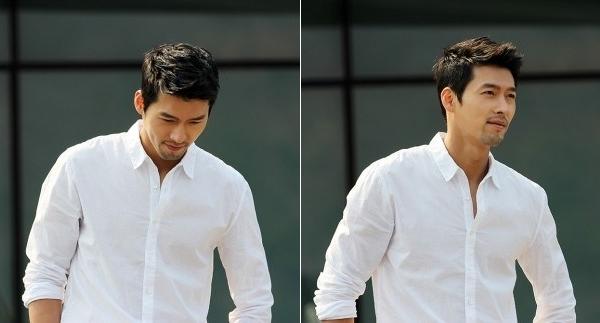 """Mới đây nhất, Hyun Bin vừa khiến các fan phải """"lên cơn đau tim"""" với diện mạo đầy phong trần, từng trải trong chiếc sơmi trắng đơn giản mà quá đỗi quyến rũ."""