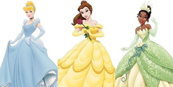 Các nàng có danh hiệu công chúa vì kết hôn với hoàng tử như: Công chúa Lọ lem, Công chúa Belle và Công chúa Ếch Tiana thì sẽ đeo găng tay. (Ảnh: Internet)
