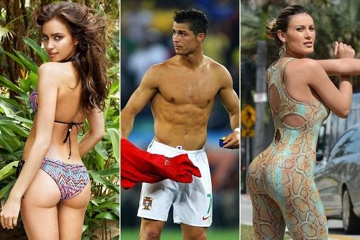 """Ronaldo quá quen thuộc với những mối tình """"tay 3"""" như thế này. (Ảnh: Internet)."""
