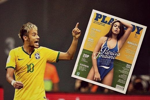 Neymar rất hứng thú với người mẫu Playboy. (Ảnh: Internet)
