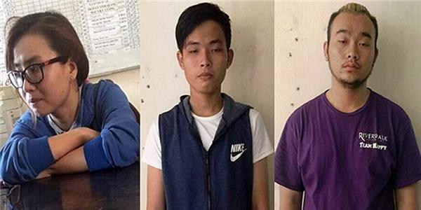 3 nghi can đã bị bắt giữ (từ trái qua phải: Quyên, Tâm, Long)