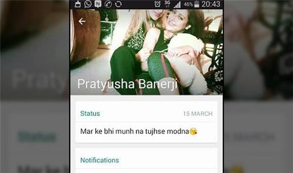 Dòng chia sẻ cuối cùng của Pratyusha là vào ngày 15/3. (Ảnh: Internet)