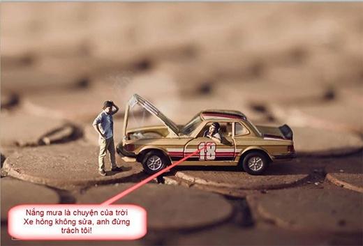Anh không sửa xe được thì đẩy cho tôi!. (Ảnh: Internet)