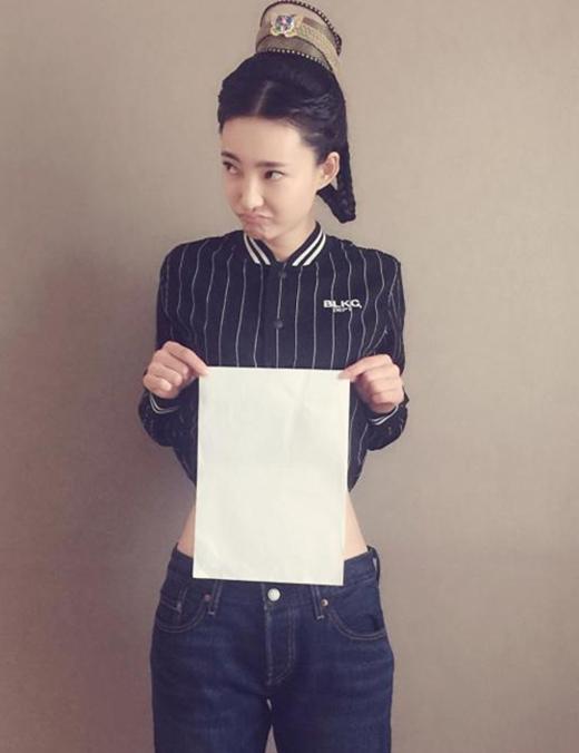Nữ diễn viên Vương Lệ Khôn cũng hưởng ứng nhiệt tình khiến trào lưu càng lan rộng. (Ảnh: Internet)