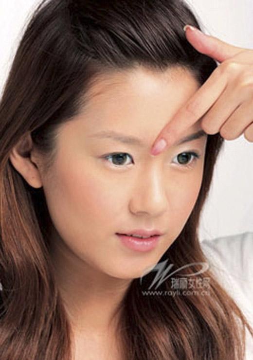 Ấn Đường bị coi là hẹp khi hai đầu lông mày gần sát vào nhau. (Ảnh: Internet)