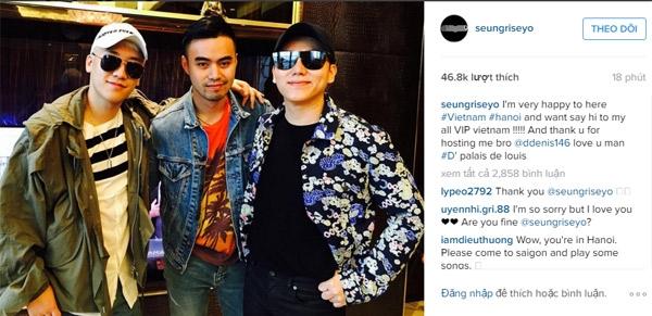 Seungri (Big Bang): 'Tôi rất hạnh phúc khi ở Việt Nam'