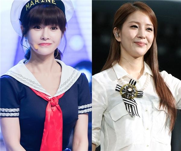 Thật khó tin chị cả của T-ara, Boram, năm nay đã bước sang tuổi 30. Gương mặt trẻ trung cùng với vóc dáng nhỏ nhắn giúp cô trông như một học sinh trung học. Đặc biệt là khi đứng cạnh BoA, người cũng sinh năm 1986 cho thấy sự cách biệt rõ rệt về mặt ngoại hình.