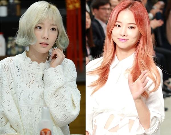 Vẻ ngoài của Taeyeon và Soljin (EXID) cho thấy sự khác biệt giữa 2 thần tượng theo đuổi hai phong cách âm nhạc khác nhau. Trưởng nhóm SNSD trưởng thành nhưng vẻ ngoài trẻ trung, còn Soljin lại quyến rũ và thu hút.