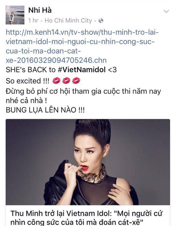 Nữ ca sĩ Hà Nhi không giấu được sự phấn khích trước thông tin này - Tin sao Viet - Tin tuc sao Viet - Scandal sao Viet - Tin tuc cua Sao - Tin cua Sao