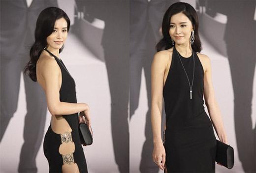 """Văn Vịnh Sang khoe lưng trần quyến rũ tại buổi lễ. (Ảnh: Internet)   Người đẹp tự tin sảy bước với chiếc đầm quyến rũ """"cộp mác"""" Ngọc Trinh. (Ảnh: Internet)"""
