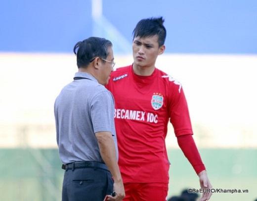 Ông Nguyễn Minh Sơn và Công Vinh.