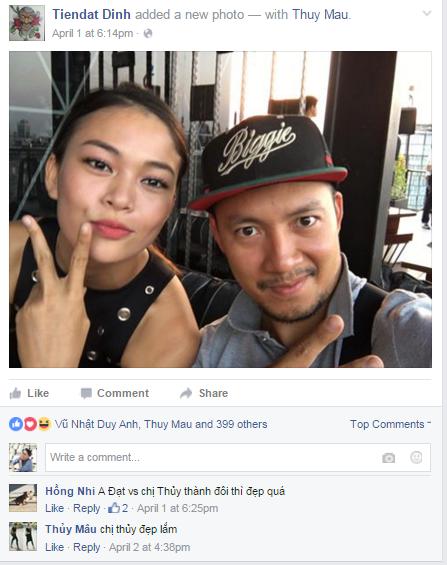 Hình ảnh cặp đôi được Đinh Tiến Đạt đăng tải trên trang cá nhân. - Tin sao Viet - Tin tuc sao Viet - Scandal sao Viet - Tin tuc cua Sao - Tin cua Sao