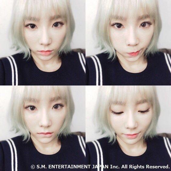 Taeyeon thay đổi phong cách với mái tóc ngắn kiểu maruko đáng yêu và xinh xắn vô cùng.