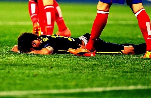 Neymar và các đồng đội đã từng gục ngã trước Atletico ngày nào. (Ảnh: Internet)