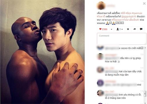 Khán giả Việt cũng vào tận trang cá nhân của nam diễn viên này để bình luận