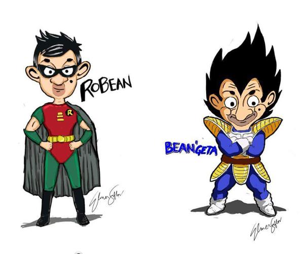 """Khi """"Ngài Đậu"""" hóa thân thành Robin và Vegeta (Ảnh: Internet)"""