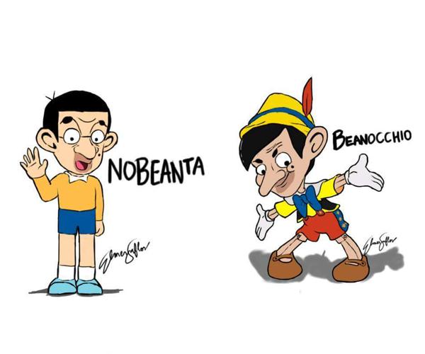 Nếu NoBeanta và Beanocchio có ngoại hình thế này thật sẽ trở thành nỗi ám ảnh tuổi thơ mất. (Ảnh: Internet)