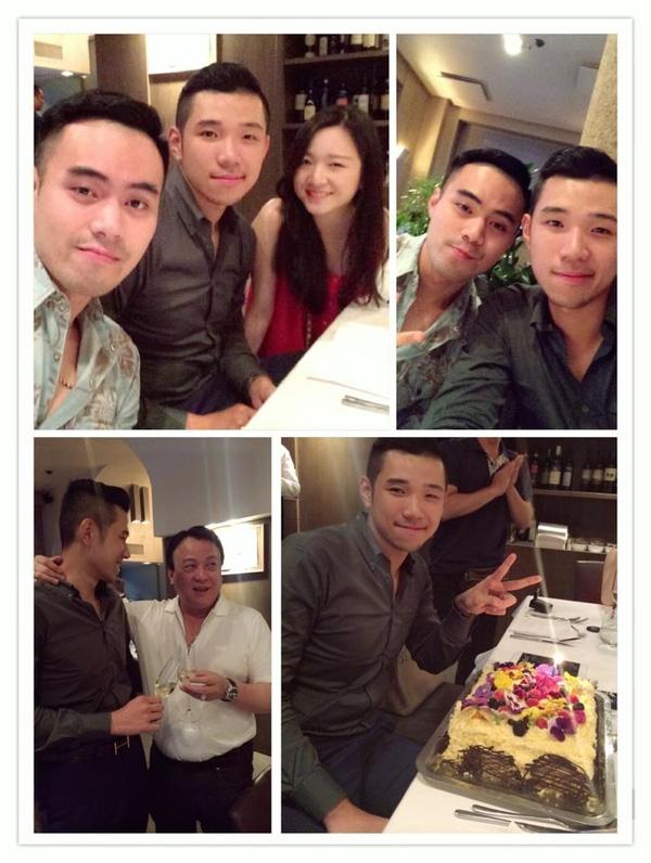 Sinh nhật Đỗ Hoàng Việt tại Ý có sự tham dự của Chủ tịch Tân Hoàng Minh, Ông Đỗ Anh Dũng, Denis Do và cô em gái út Anh Sa xinh đẹp.(Ảnh: Internet)