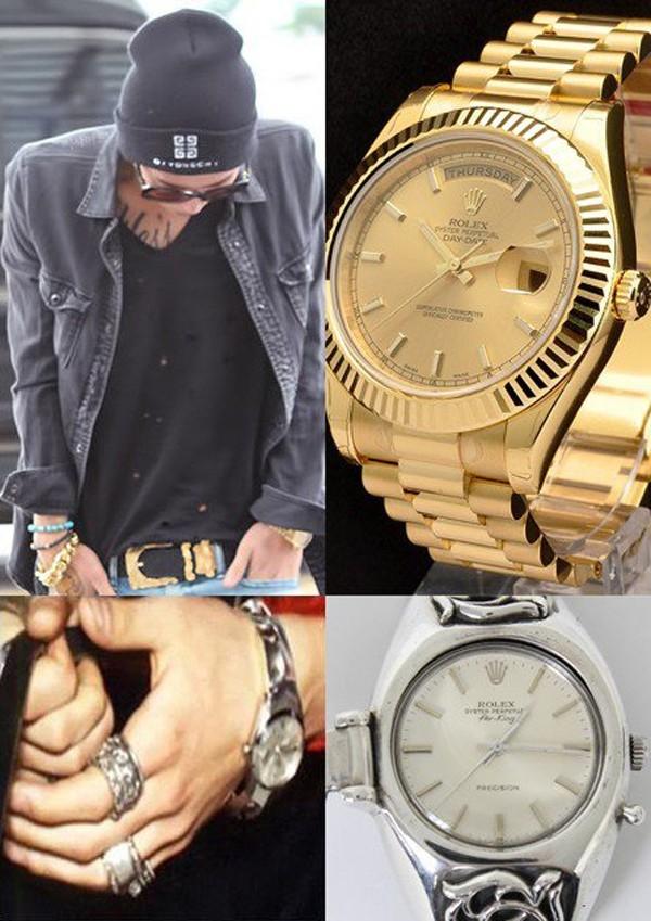 G-Dragon sở hữu ít nhất 2 chiếc đồng hồ Rolex với giá lần lượt là 500 triệu và 185 triệu VNĐ.