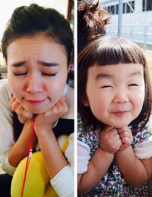 Ninh Dương Lan Ngọc tái hiện biểu cảm siêu dễ thương của cô bé Aries đến từ Nhật Bản. (Ảnh: Internet) - Tin sao Viet - Tin tuc sao Viet - Scandal sao Viet - Tin tuc cua Sao - Tin cua Sao