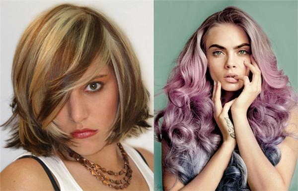 Hai kiểu nhuộm tóc trào lưu của 2 thập kỷ.