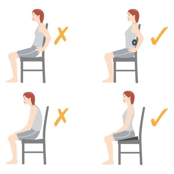 Bạn cũngnên ngồi thẳng lưng và thường xuyên xiết cơ bụng khi ngồi để hỗ trợ thêm cho phương pháp này.(Ảnh: Internet)